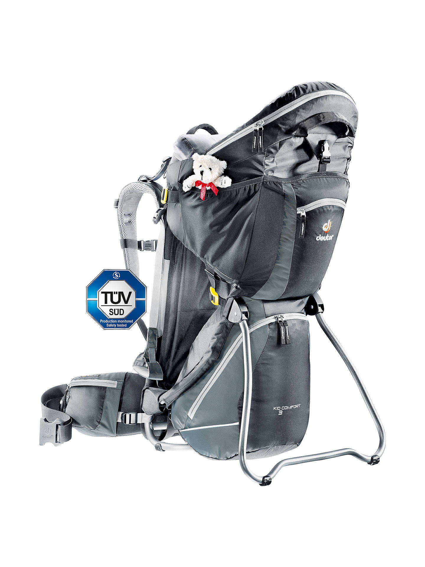 ef941e252ba6c Buy Deuter Kid Comfort 3 Child Carrier, Black Granite Online at  johnlewis.com ...