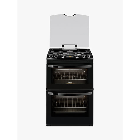 Buy Zanussi ZCG63200BA Gas Cooker, Black Online at johnlewis.com