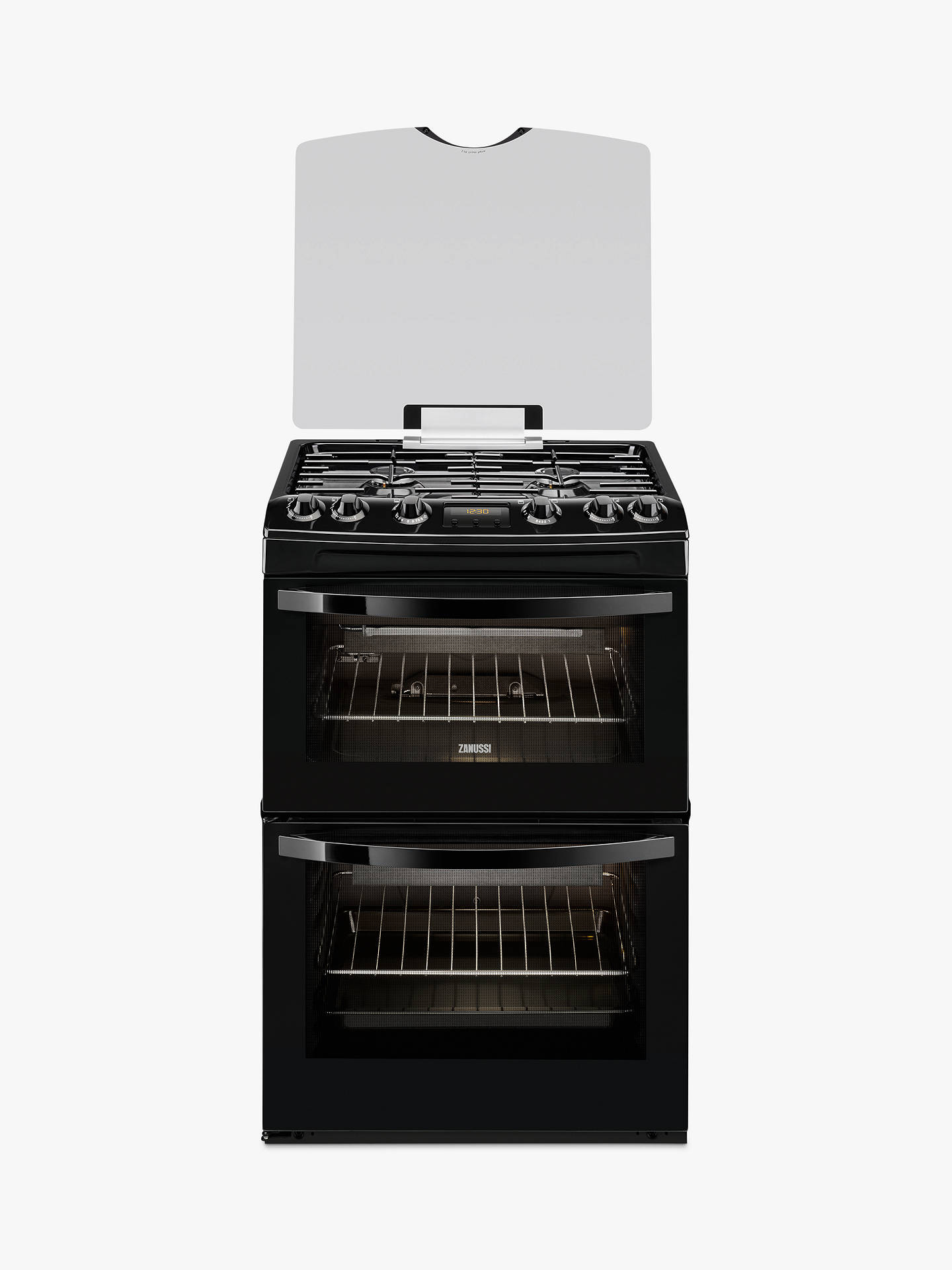 zanussi zcg63200ba gas cooker black at john lewis partners. Black Bedroom Furniture Sets. Home Design Ideas