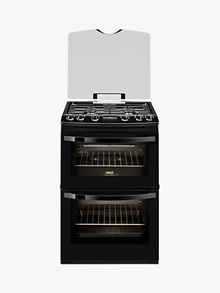Zanussi ZCG63200BA Gas Cooker, Black