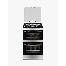 Buy Zanussi ZCG43200XA Gas Cooker, Stainless Steel Online at johnlewis.com