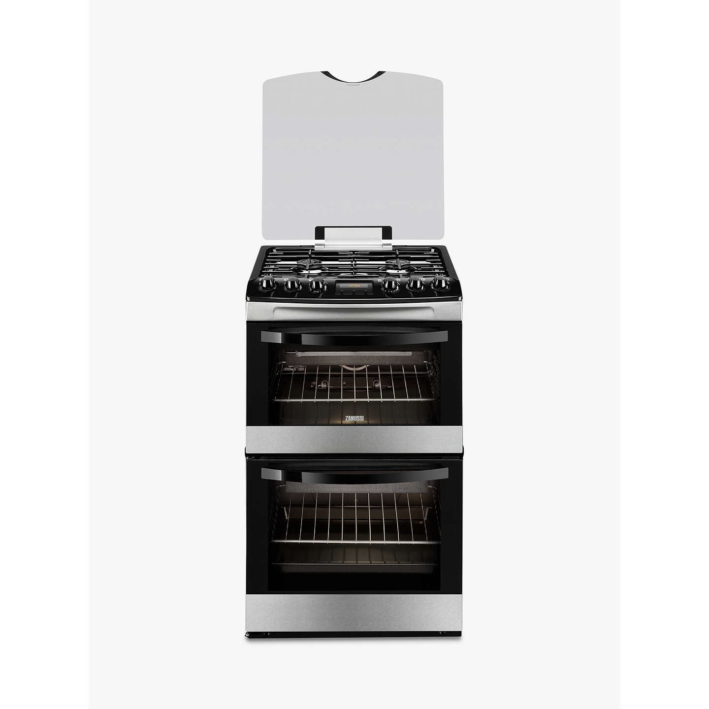 zanussi zcg43200xa gas cooker stainless steel at john lewis. Black Bedroom Furniture Sets. Home Design Ideas
