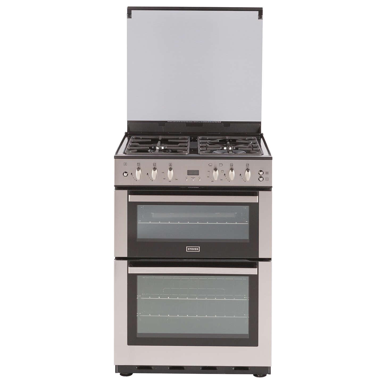 stoves sfg60dop fanned gas cooker stainless steel at john. Black Bedroom Furniture Sets. Home Design Ideas