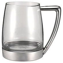 Buy Royal Selangor Modern Glass and Pewter Tankard Online at johnlewis.com