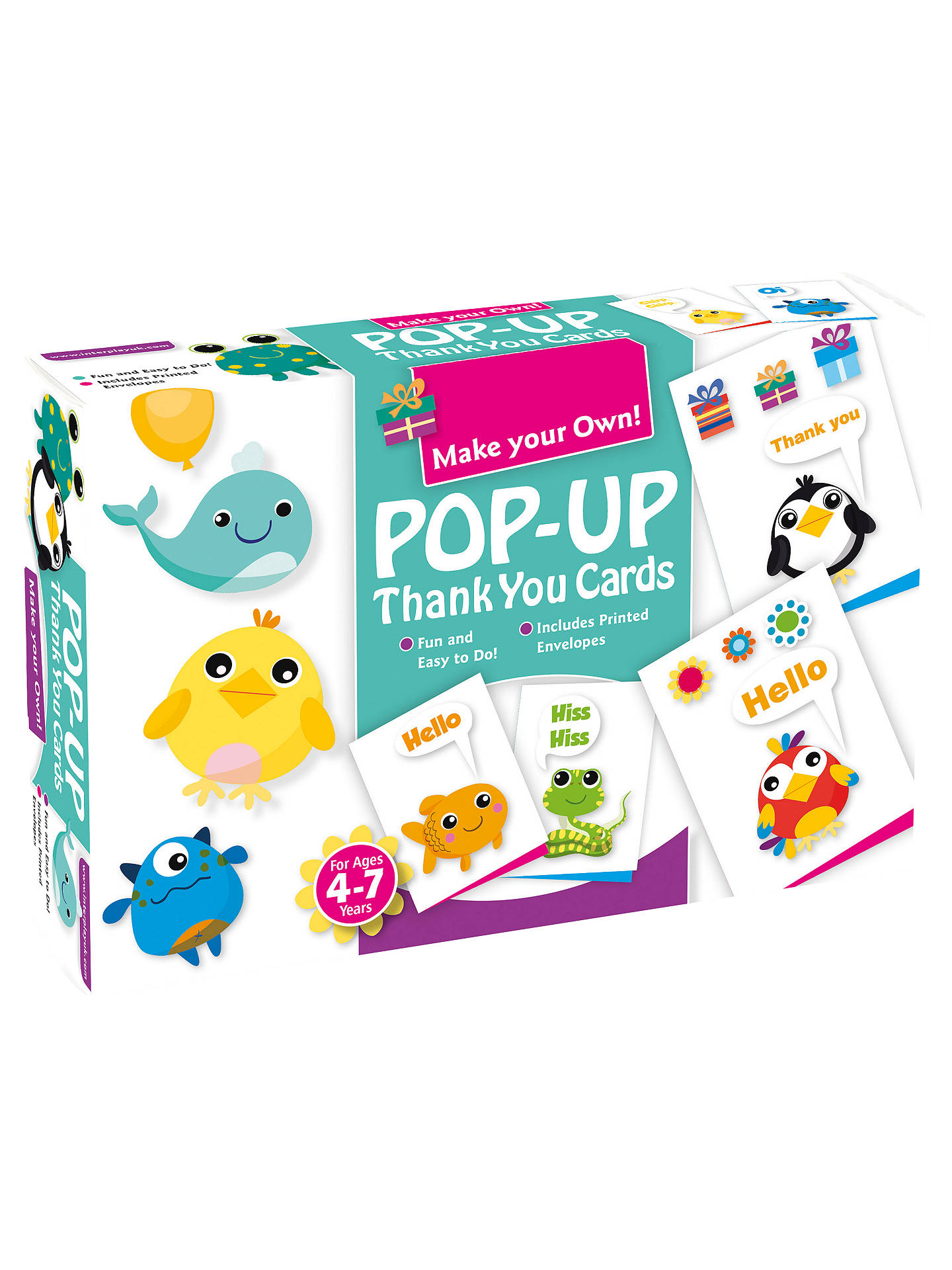 Make Your Own Pop Up Thank You Cards Kit At John Lewis Partners