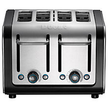Buy Dualit 46505 Architect 4-Slice Toaster, Brushed Steel / Black + FREE Sandwich Cage Online at johnlewis.com