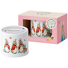 Buy Beatrix Potter Peter Rabbit Wedgwood Good Little Bunnies Money Box Online at johnlewis.com