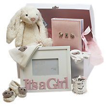 Buy John Lewis It's A Girl Large Baby Hamper, Pink Online at johnlewis.com