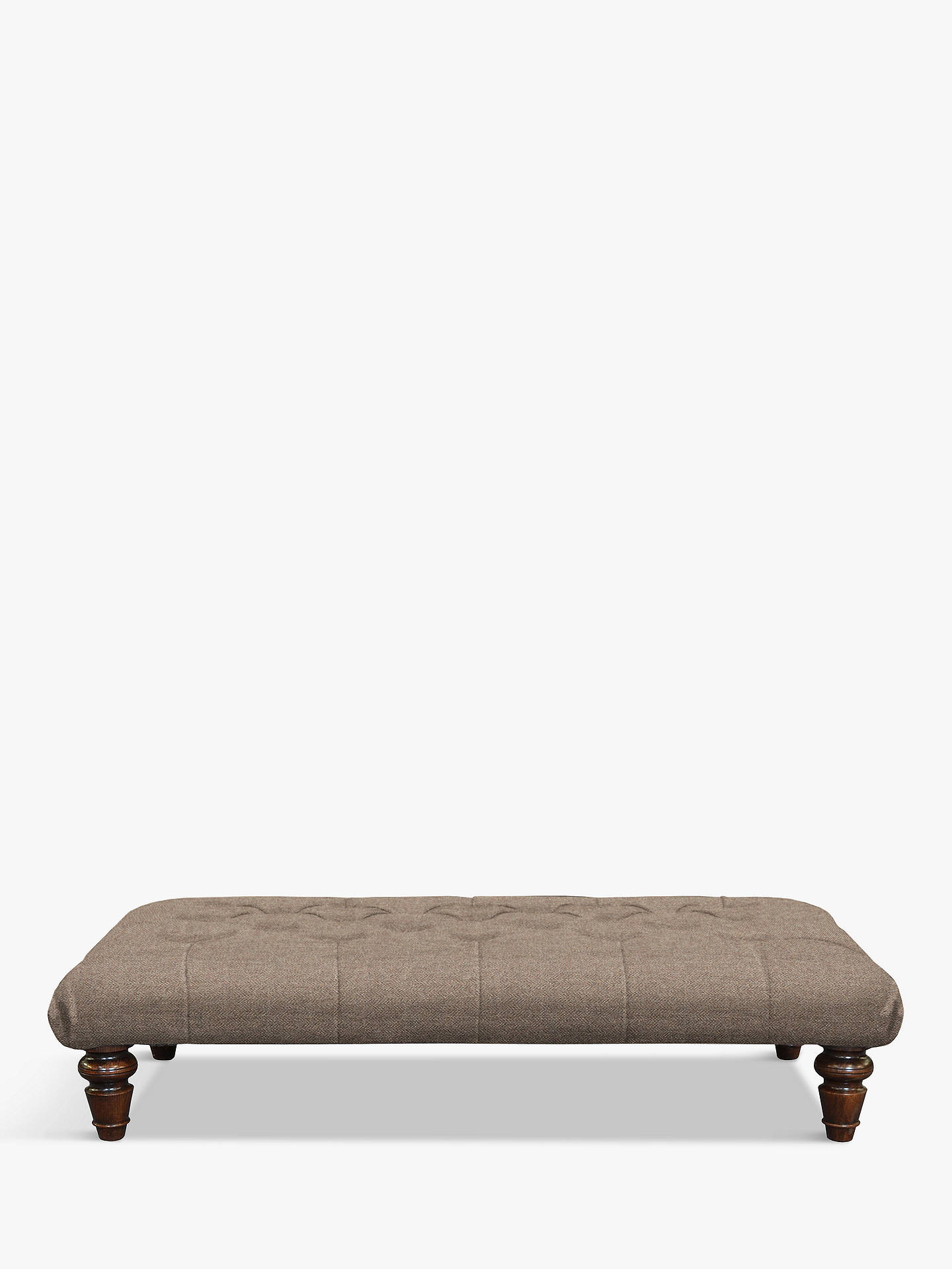 BuyTetrad Lewis Large Buttoned Top Footstool, Harris Tweed Heather Online at johnlewis.com