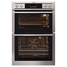Buy AEG DC4013001M Built-In Double Electric Oven, Stainless Steel Online at johnlewis.com
