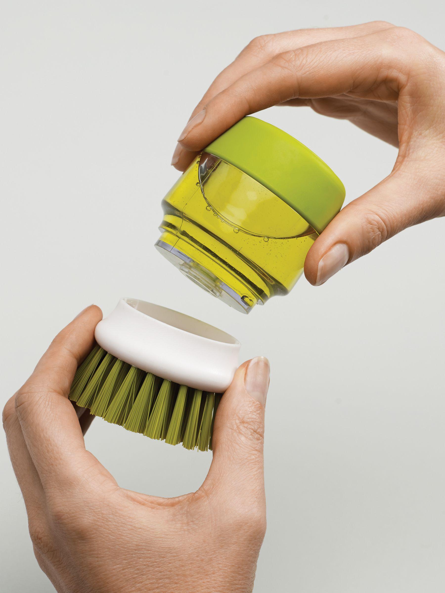 BuyJosph Joseph Palm Scrub Soap-Dispensing Washing-Up Brush, Green Online at johnlewis.com