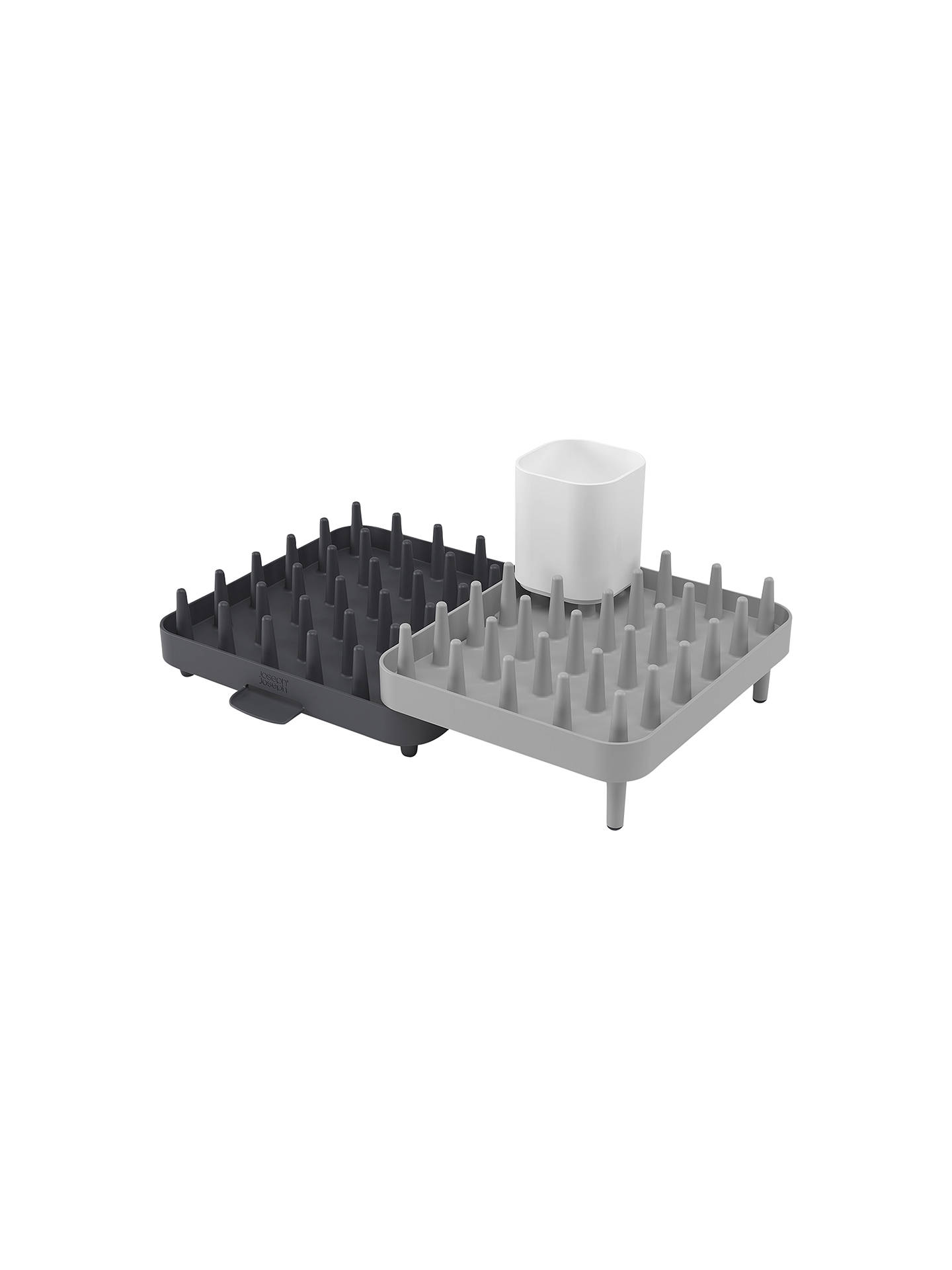 BuyJoseph Joseph Connect Adjustable 3-Piece Dish Rack, Grey Online at johnlewis.com