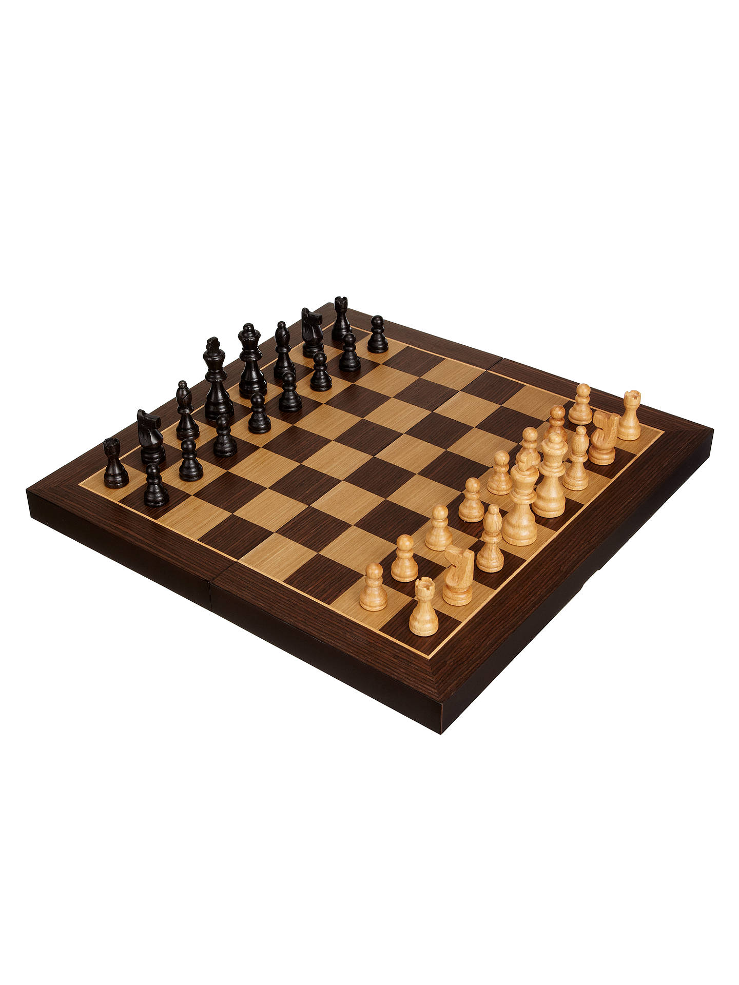 John Lewis Partners Classic Wooden Chess Set Large