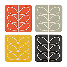 Buy Orla Kiely Linear Flower Coasters, Set of 4 Online at johnlewis.com