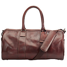 Buy John Lewis Gladstone Leather Barrel Bag, Antique Tan Online at johnlewis.com