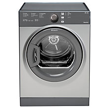 Buy Hotpoint TVFS83CGG Vented Tumble Dryer, 8kg Load, C Energy Rating, Graphite Online at johnlewis.com