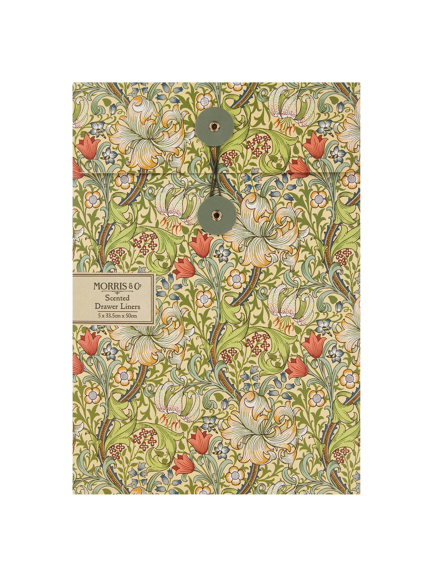 Buy Morris & Co. Golden Lily Drawer Liners, Pack of 5 Online at johnlewis.com