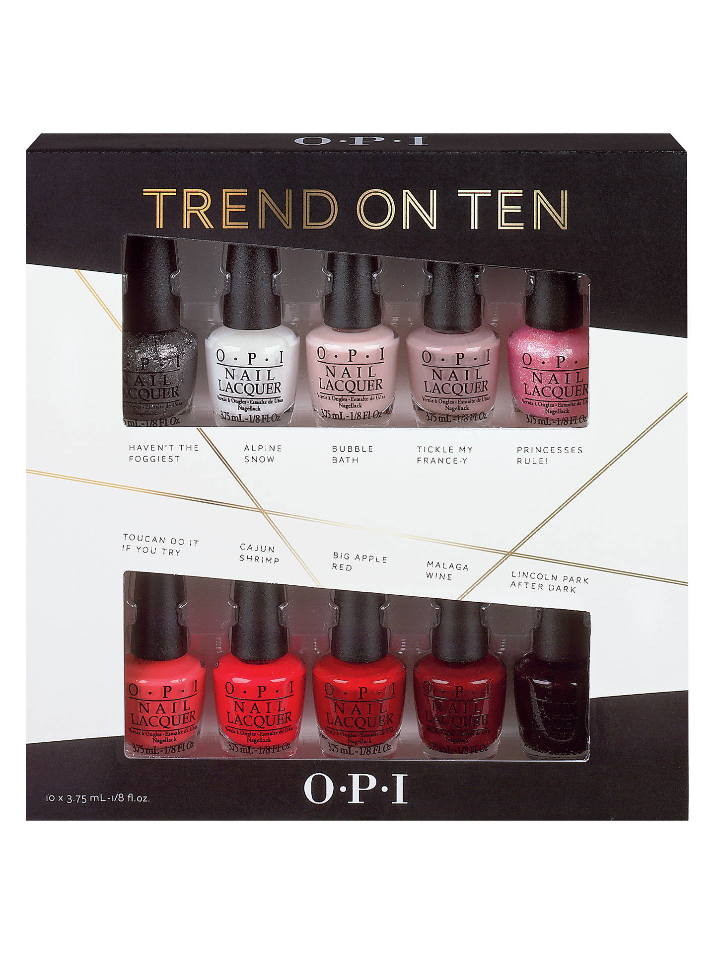 Opi Nails Nail Lacquer Trend On Ten 10 Pack Gift Set At John
