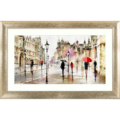 Richard Macneil – Stroll in the Rain Framed Print, 113 x 73cm