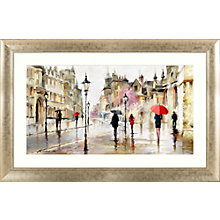 Buy Richard Macneil - Stroll in the Rain Framed Print, 113 x 73cm Online at johnlewis.com