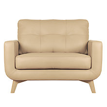 Buy John Lewis Barbican Leather Snuggler, Light Legs, Prescott Buckskin Online at johnlewis.com