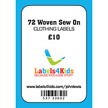 Buy Labels4Kids Woven Sew On Clothing Labels, Pack of 72 Online at johnlewis.com