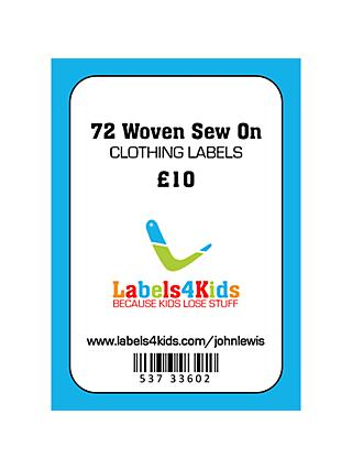 Labels4Kids Woven Sew On Clothing Labels, Pack of 72