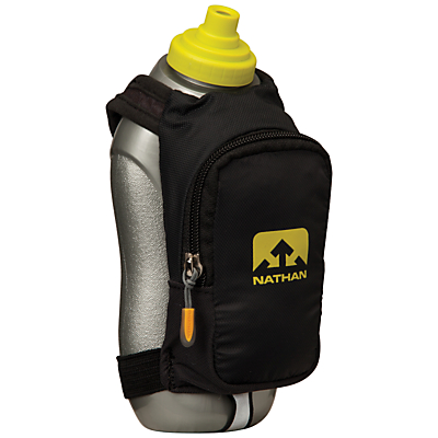 Nathan SpeedDraw Plus Insulated Flask, Black/yellow