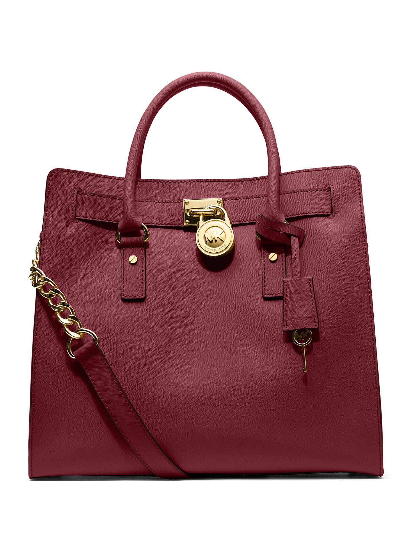 fe4a2b6a7 Buy MICHAEL Michael Kors Hamilton Large Saffiano Leather Tote Bag, Claret  Online at johnlewis.