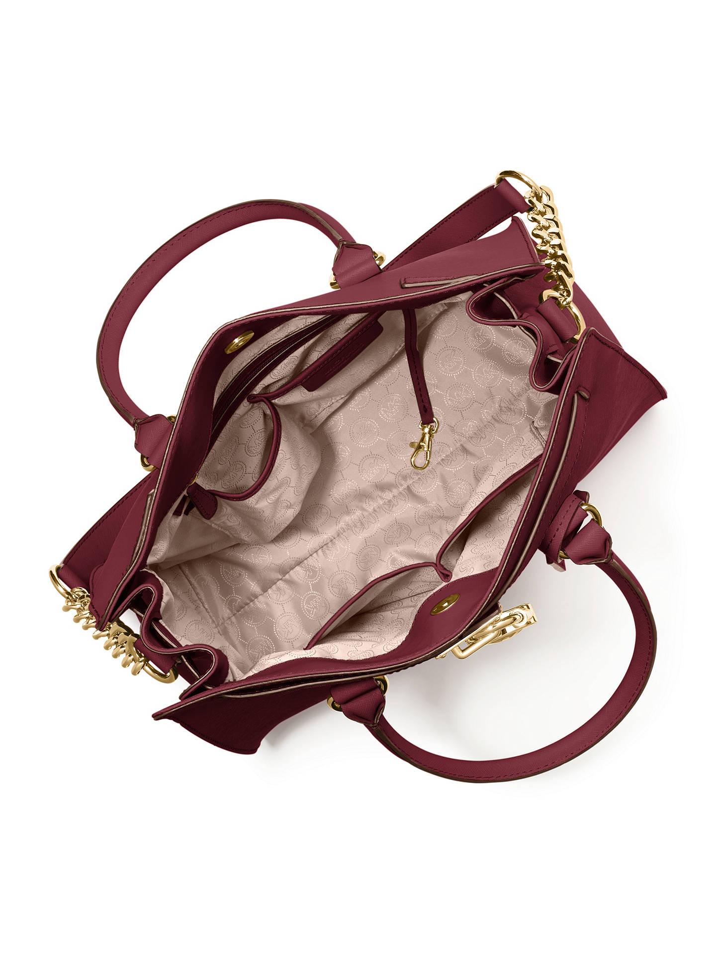 6af5bc581aa5c5 Buy MICHAEL Michael Kors Hamilton Large Saffiano Leather Tote Bag, Claret  Online at johnlewis.