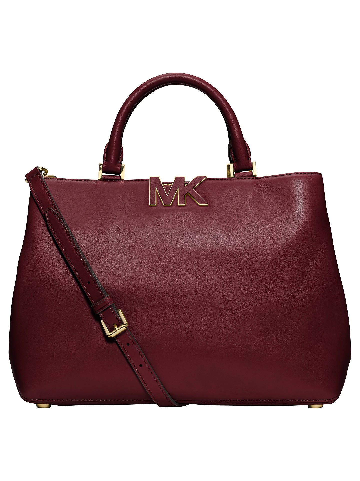 michael michael kors florence large leather satchel bag at john rh johnlewis com