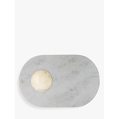 Product photo of Tom dixon stone chopping board white and gold