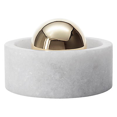Tom Dixon Stone Spice Grinder, White and Gold