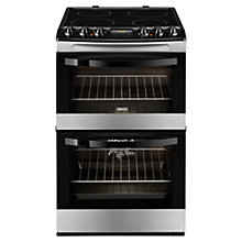 Buy Zanussi ZCV48300XA Electric Cooker, Stainless Steel Online at johnlewis.com