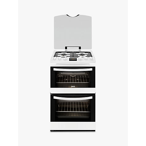 buy zanussi zcg43200wa gas cooker white john lewis. Black Bedroom Furniture Sets. Home Design Ideas