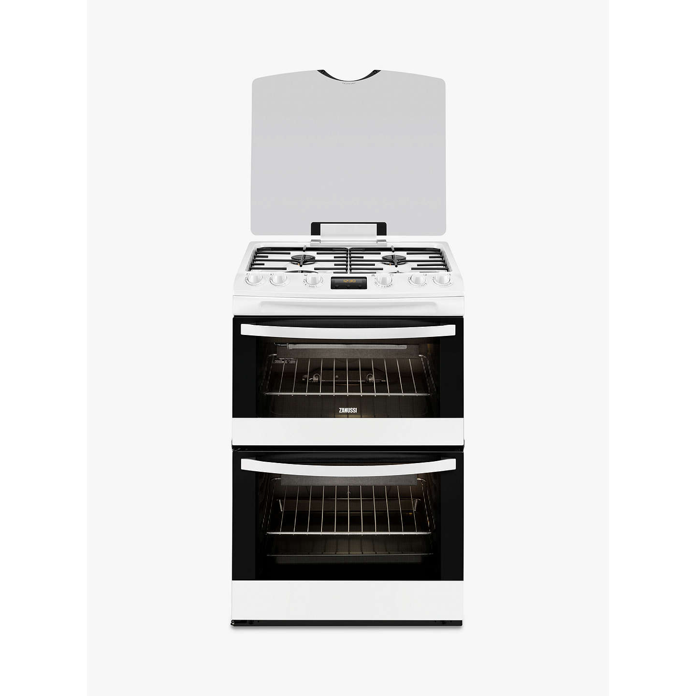 zanussi zcg63200wa gas cooker white at john lewis. Black Bedroom Furniture Sets. Home Design Ideas
