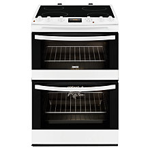 Buy Zanussi ZCV68300WA Electric Cooker, White Online at johnlewis.com