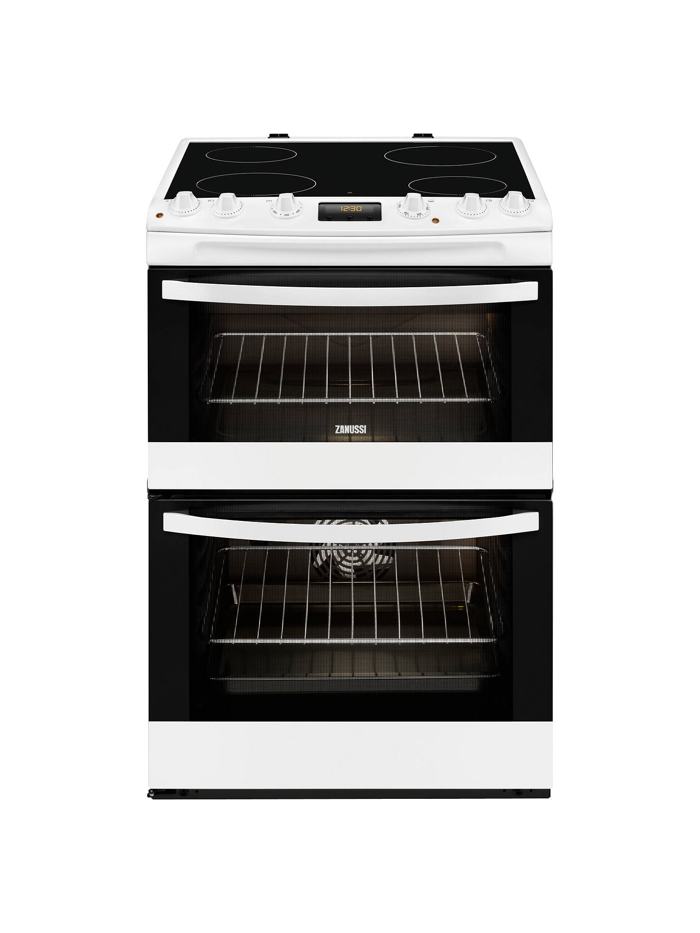 BuyZanussi ZCV68300WA Electric Cooker, White Online at johnlewis.com