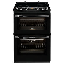 Buy Zanussi ZCV68300BA Electric Cooker, Black Online at johnlewis.com
