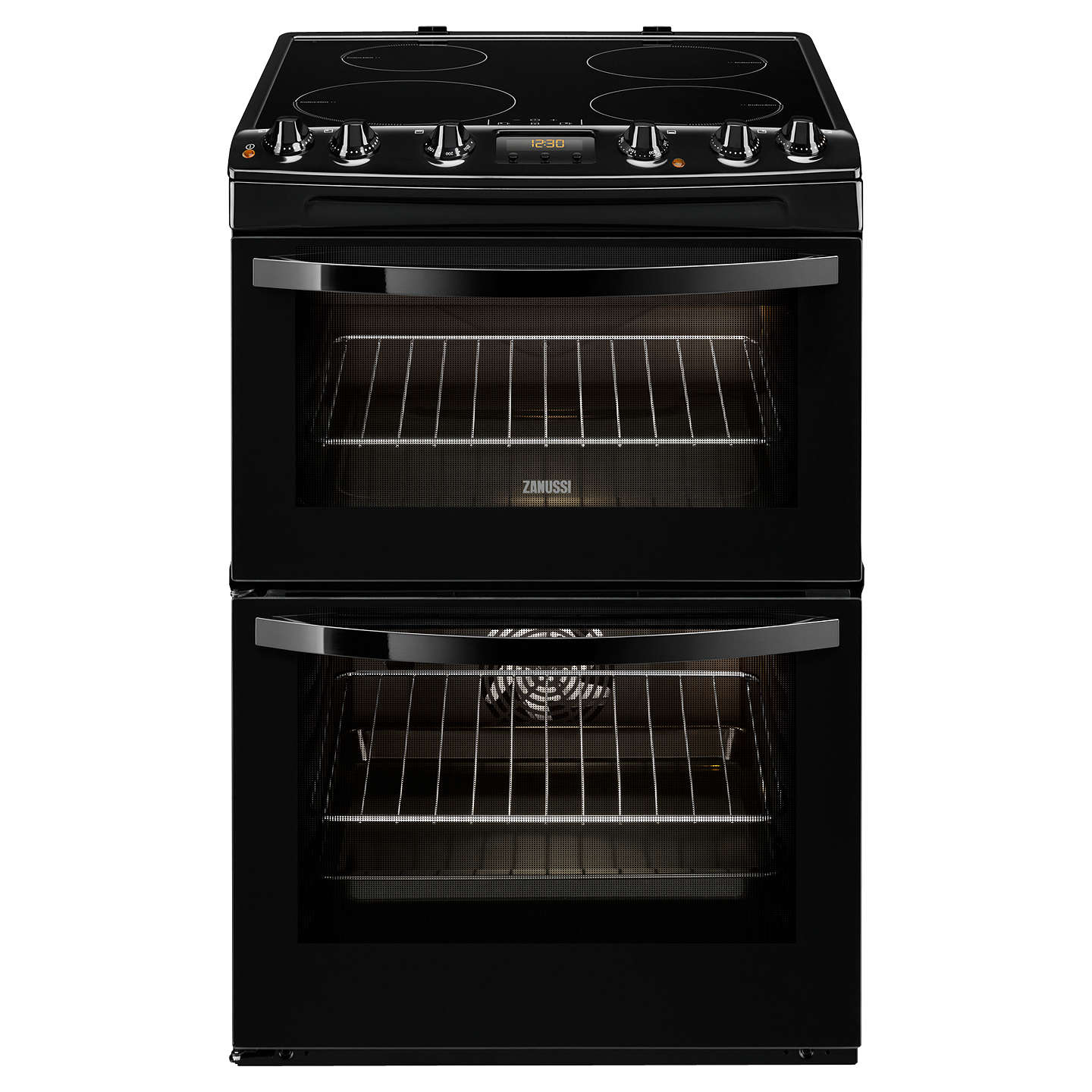 BuyZanussi ZCI68300BA Induction Hob Electric Cooker, Black Online at johnlewis.com