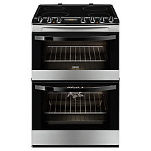 Buy Zanussi ZCV68310XA Electric Cooker, Stainless Steel Online at johnlewis.com