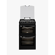 Buy Zanussi ZCG43200BA Gas Cooker, Black Online at johnlewis.com