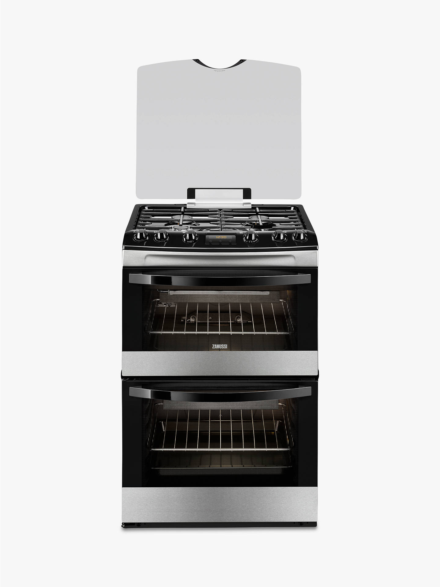 zanussi zcg63200xa gas cooker stainless steel at john. Black Bedroom Furniture Sets. Home Design Ideas
