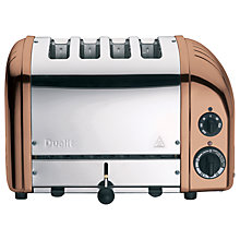 Buy Dualit NewGen Toaster, 4-Slice, Copper + FREE Sandwich Cage Online at johnlewis.com