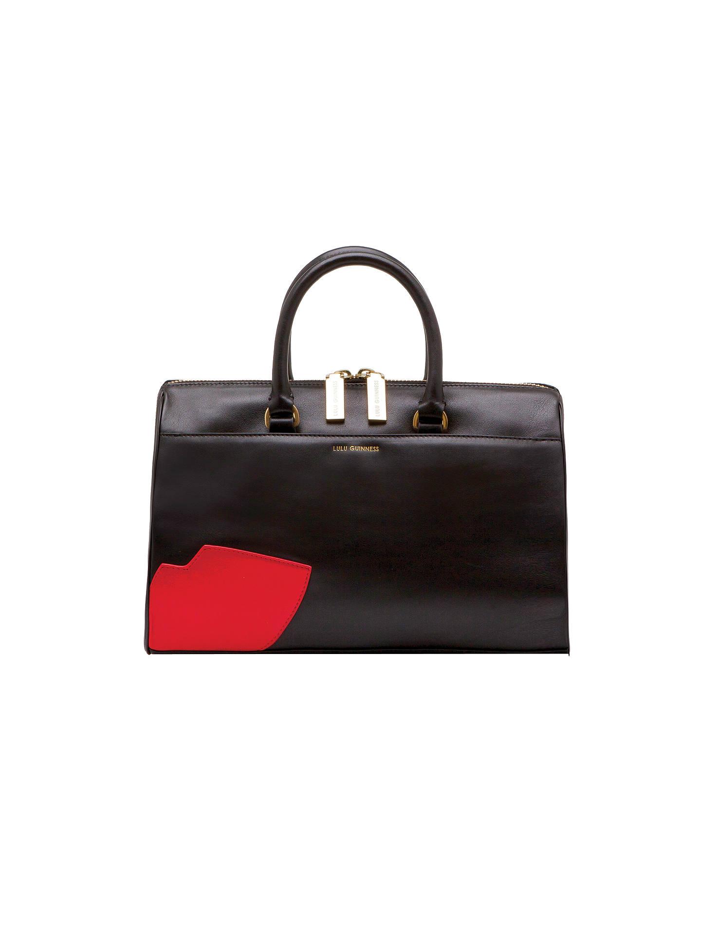 f091ef2b6ba0c Buy Lulu Guinness Abstract Lips Violet Leather Grab Bag