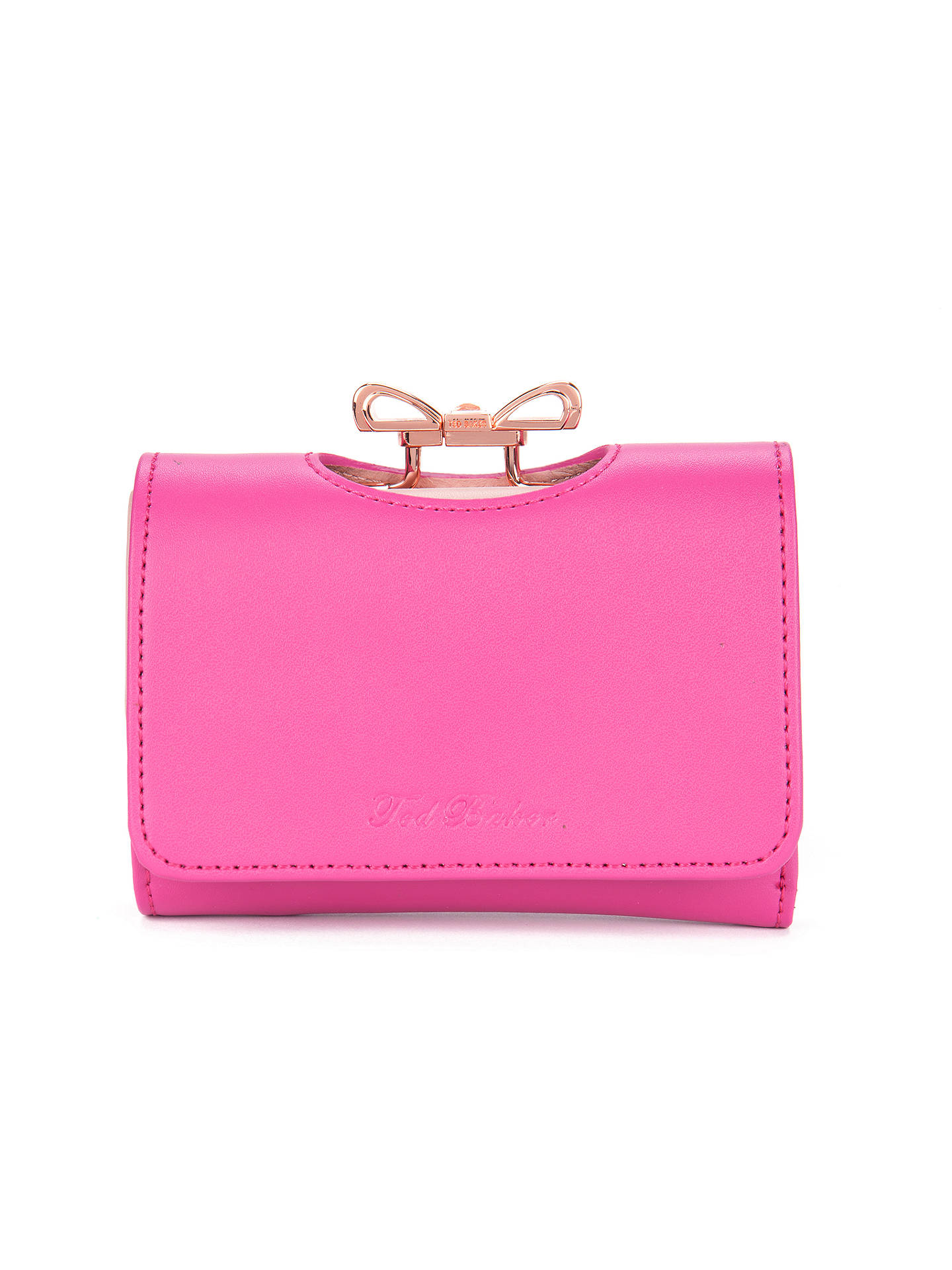 fed1869566c5 Ted Baker Meelar Small Bow Colour Block Matinee Leather Purse at ...
