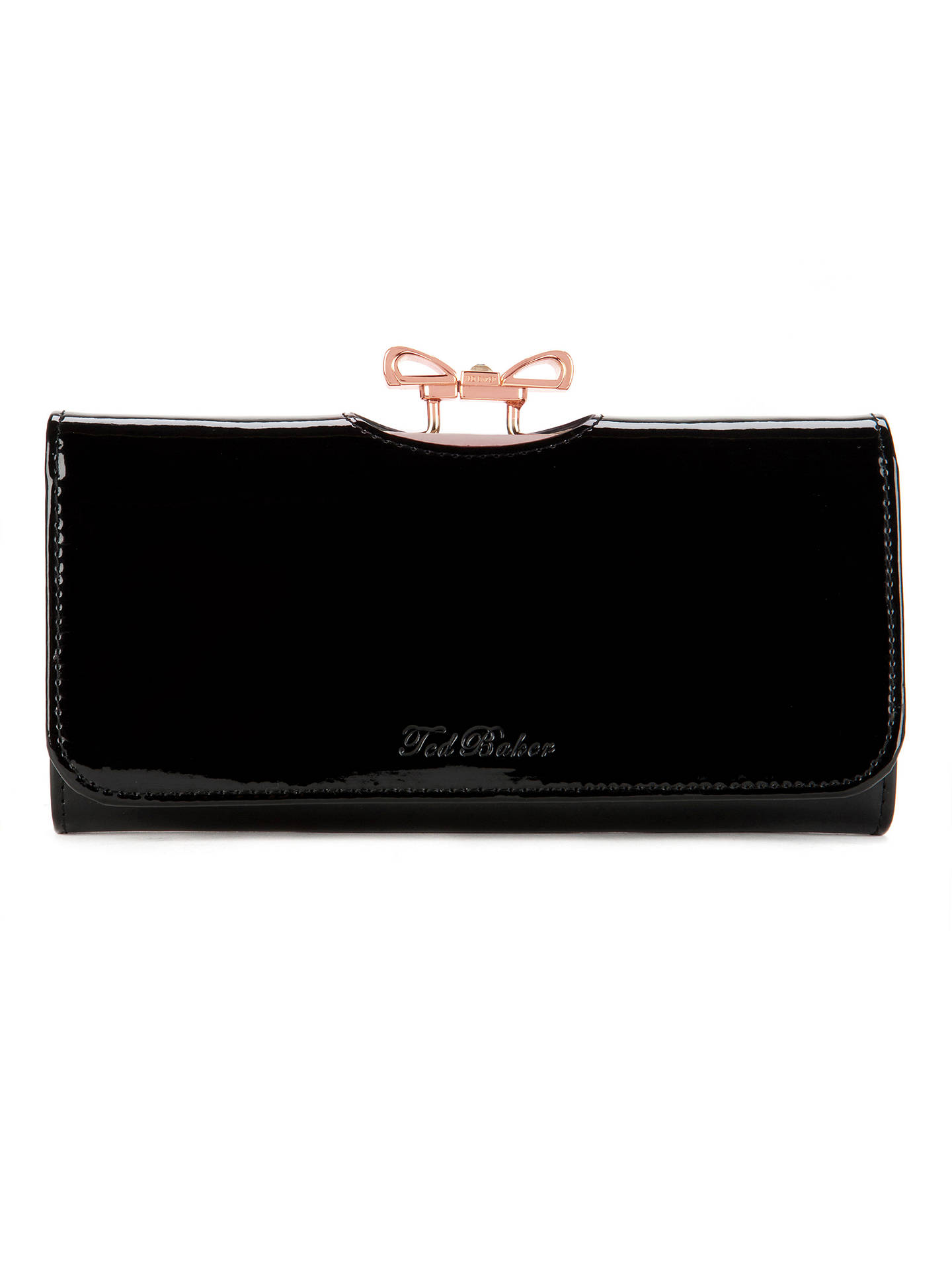 f5068cd85523 Ted Baker Lindar Patent Leather Crystal Bow Bobble Matinee Purse at ...