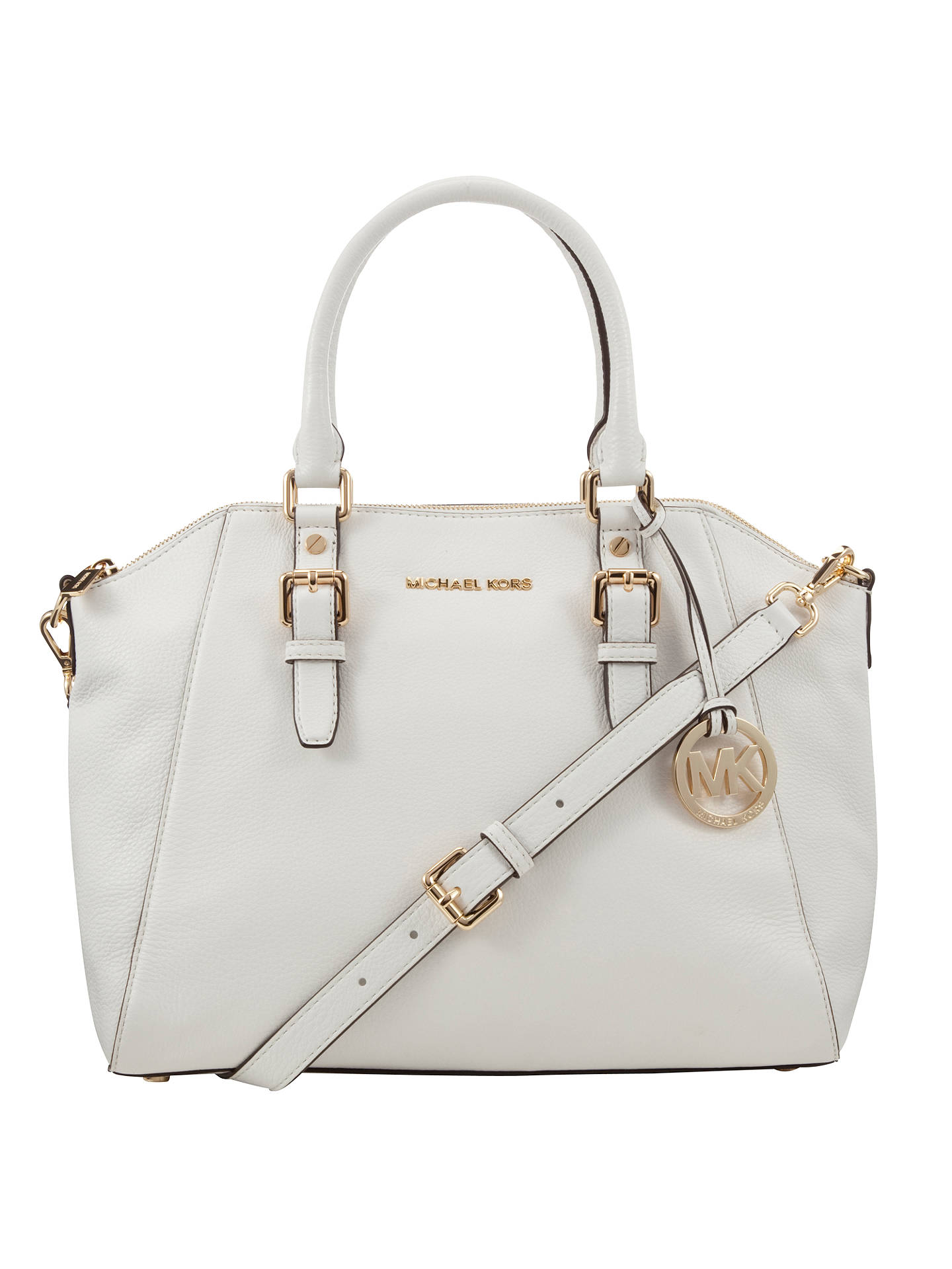 7d32a62b8dbb76 Buy MICHAEL Michael Kors Bedford Large Leather Tote Bag, White Online at  johnlewis.com ...