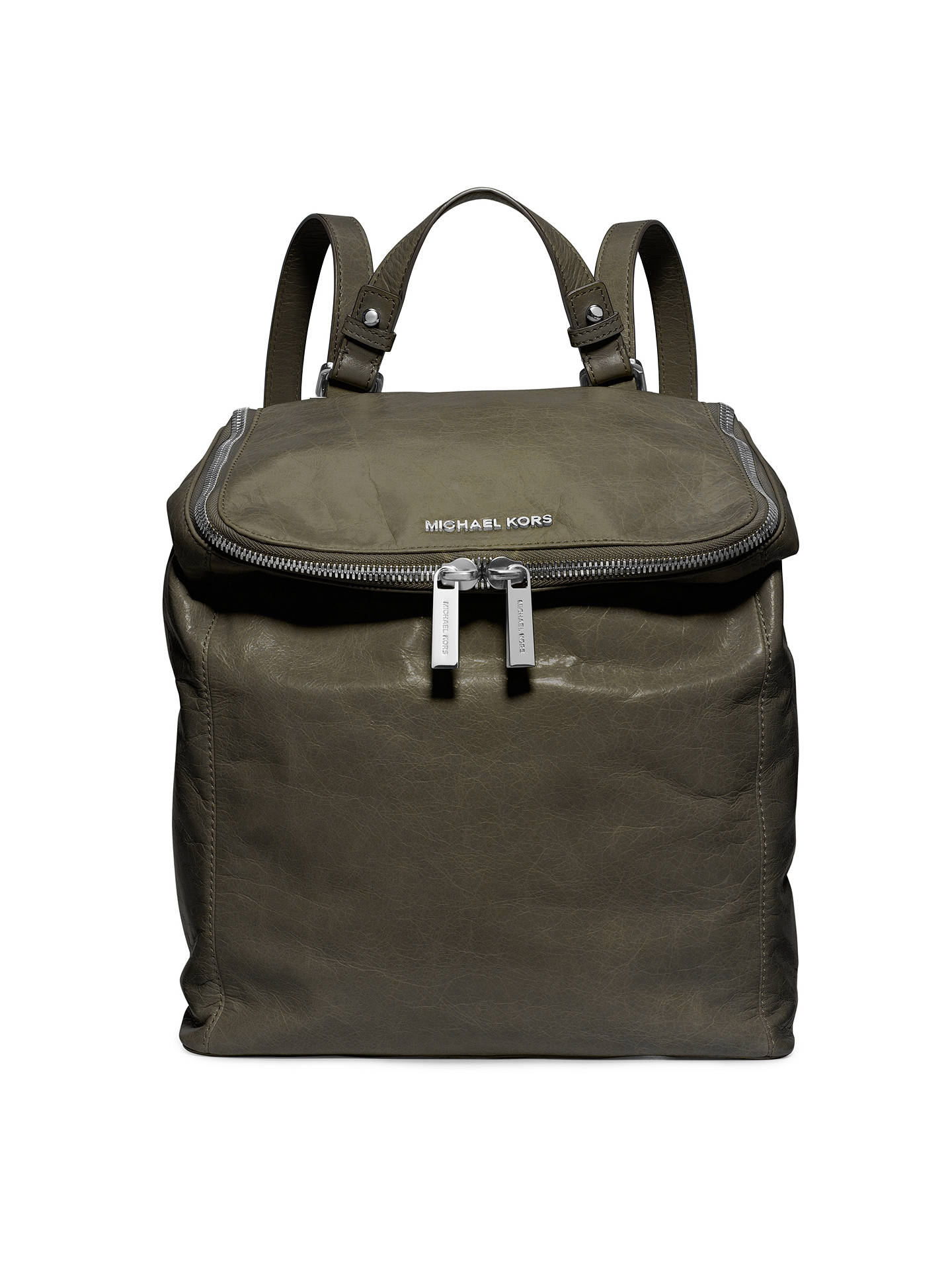 5e0590476155 Buy MICHAEL Michael Kors Medium Lisbeth Leather Backpack, Olive Green  Online at johnlewis.com ...