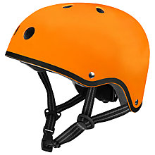 Buy Micro Scooter Safety Helmet, Matt Orange, Medium Online at johnlewis.com